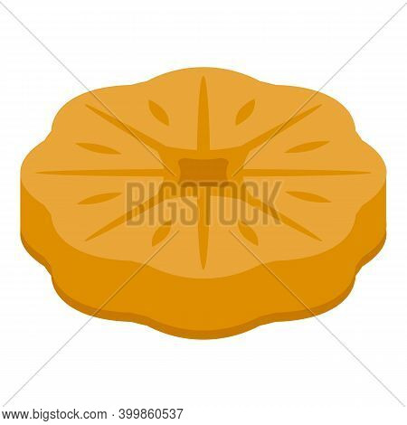 Figs Flower Biscuit Icon. Isometric Of Figs Flower Biscuit Vector Icon For Web Design Isolated On Wh