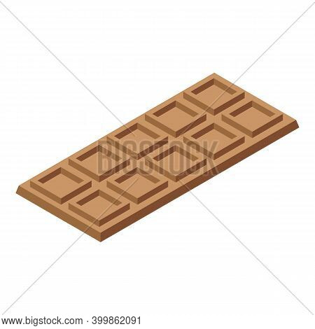 Swiss Chocolate Icon. Isometric Of Swiss Chocolate Vector Icon For Web Design Isolated On White Back