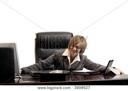 Woman Executive- Acheiving A New Position