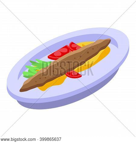 Turkish Baked Food Icon. Isometric Of Turkish Baked Food Vector Icon For Web Design Isolated On Whit