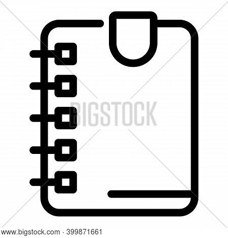 Save Bookmark Icon. Outline Save Bookmark Vector Icon For Web Design Isolated On White Background