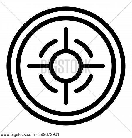 Aim Focus Icon. Outline Aim Focus Vector Icon For Web Design Isolated On White Background