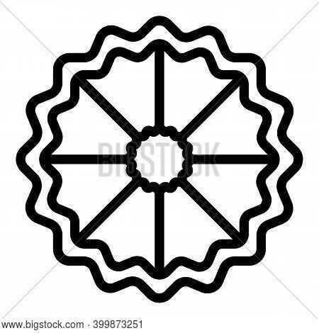 Bergamot Slice Icon. Outline Bergamot Slice Vector Icon For Web Design Isolated On White Background