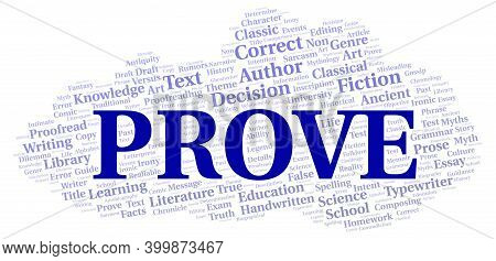Prove Typography Word Cloud Create With Text Only