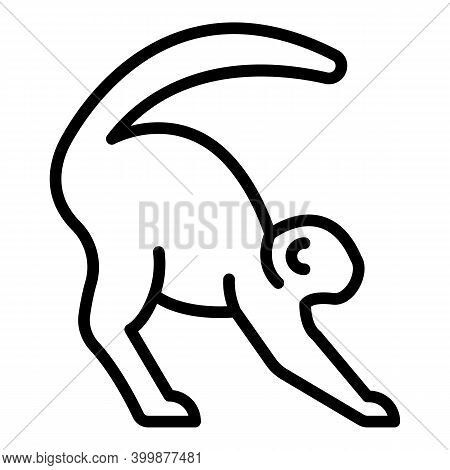 Exotic Gibbon Icon. Outline Exotic Gibbon Vector Icon For Web Design Isolated On White Background
