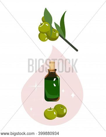 Amla Oil In Cute Glass Vial With Cork. Emblica Fruits.indian Gooseberry For Herbal Medicine Or Beaut