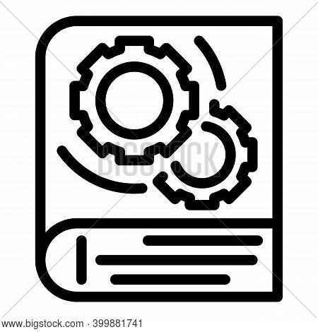 Technical Book Icon. Outline Technical Book Vector Icon For Web Design Isolated On White Background