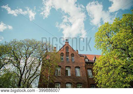 Nursing Home In Erfurt, Germany. Beautiful Brick House