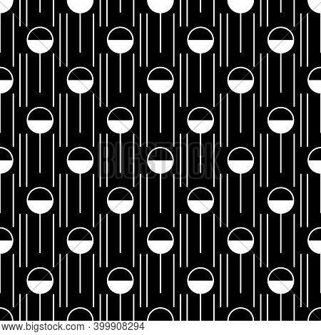 Figures Ornament. Seamless Pattern. Lollipop, Lines Wallpaper. Geometrical Shapes Backdrop. Candy, S