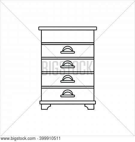 Drawer Icon Isolated On White Background From Interior Design Collection. Trendy And Modern Drawer I