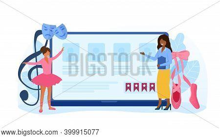 Dance Teacher Or Choreographer Making Online Dance Casting. Concept Of Dancing Courses For Children