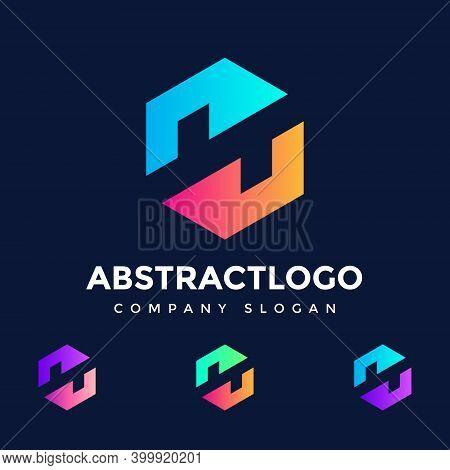 N Letter Colorful Logo Design Vector, Emblem, Creative Symbol N Icon Design. Colorful Abstract Logo