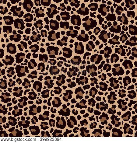 Leopard Print. Abstract Leopard Skin Seamless Pattern.