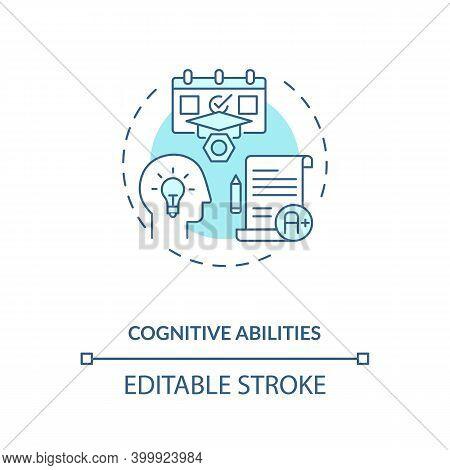 Cognitive Abilities Concept Icon. Human Factor In Ergonomics Idea Thin Line Illustration. Human Perc