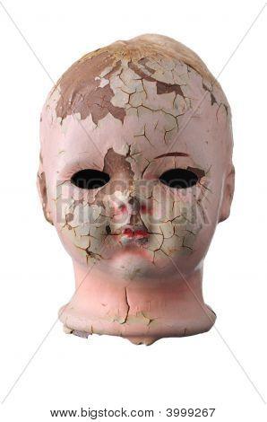 Creepy Old Doll Head