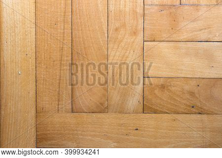 Texture Of Dirty And Dusty Tiled Wooden Floor.