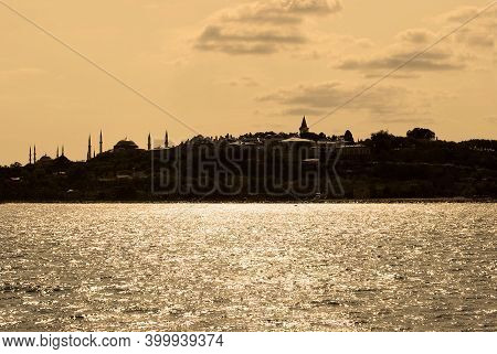 Historical Peninsula, Capital Of The Ancient Byzantine And Ottoman State, Istanbul Turkey Looks At T