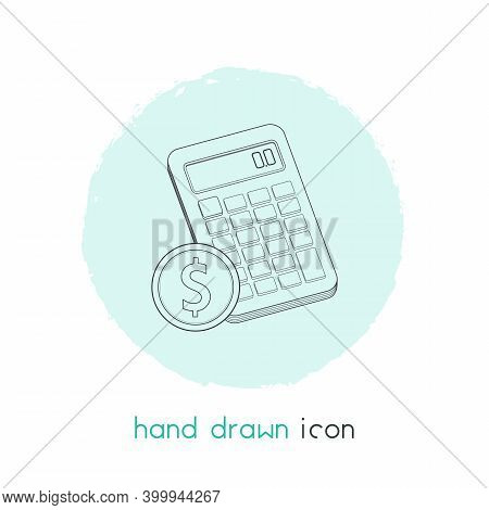 Budget Calculator Icon Line Element. Vector Illustration Of Budget Calculator Icon Line Isolated On