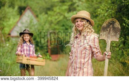 Gardening Basics. Child Friendly Garden Tools Ensure Safety Of Child Gardener. Gardening Teaching Li