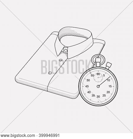 Express Dry Cleaning Icon Line Element. Illustration Of Express Dry Cleaning Icon Line Isolated On C