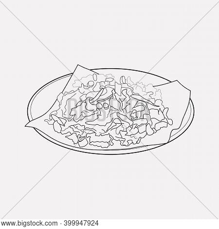 Dining Icon Line Element. Vector Illustration Of Dining Icon Line Isolated On Clean Background For Y
