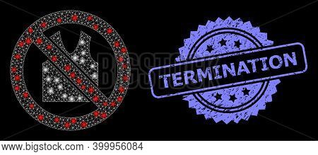 Bright Mesh Web Forbidden Open Clothes With Light Spots, And Termination Textured Rosette Seal Imita