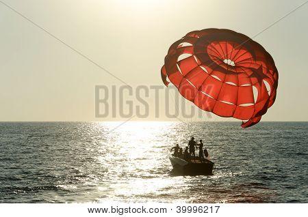Start parasailing