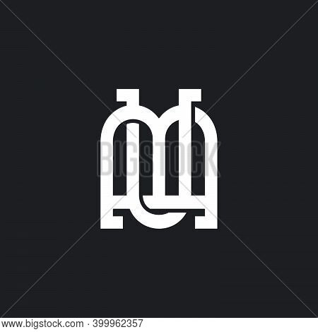 Letter Mu Abstract Window Shape Logo Vector
