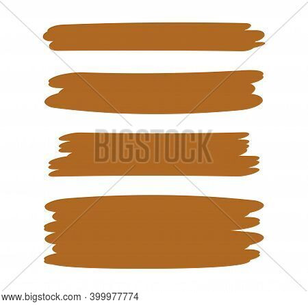 Brown Stripes Brush Paint For Scribble Marker, Brushstroke Painting Brown Pastel Soft Color, Brown W