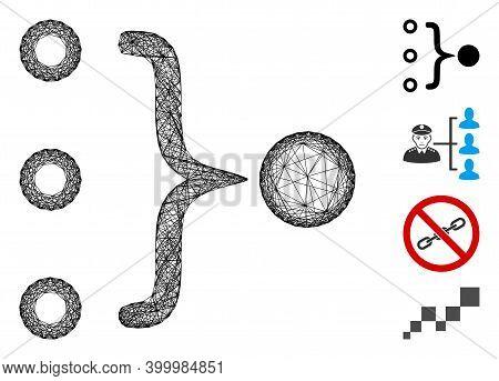 Vector Network Element Aggregation. Geometric Wire Carcass 2d Network Based On Element Aggregation I