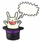 cartoon rabbit in hat trick poster