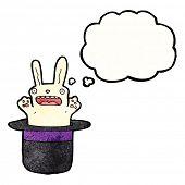 cartoon rabbit in top hat poster