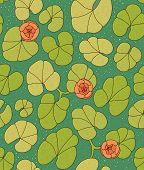 water lilies floral nature seamless wallpaper background pattern poster