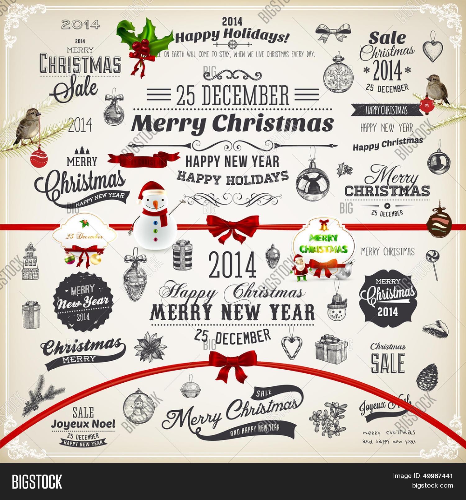 Christmas Decoration Vector & Photo (Free Trial)   Bigstock