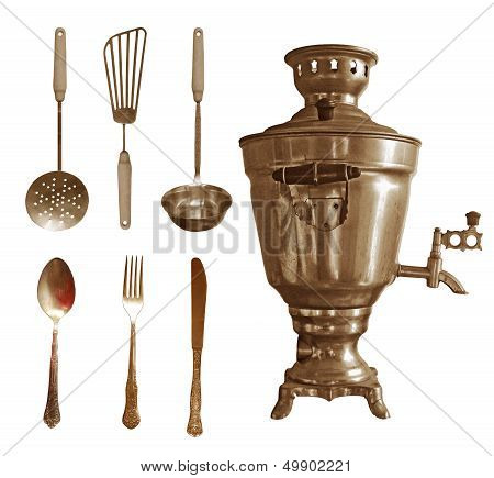 Retro kitchenware set