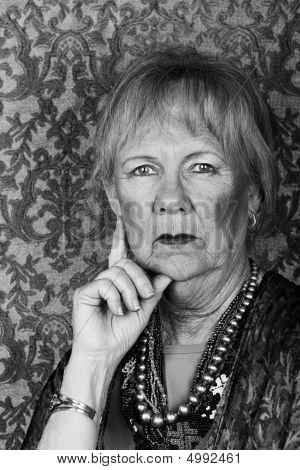 Skeptical Senior Woman
