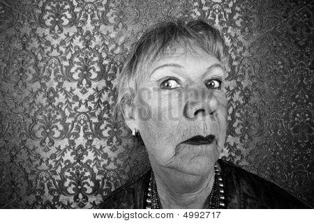 Snooty Senior Woman