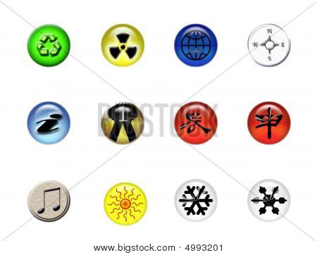 Set Of Symbols Pins