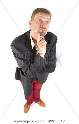 Businessman With Funny View