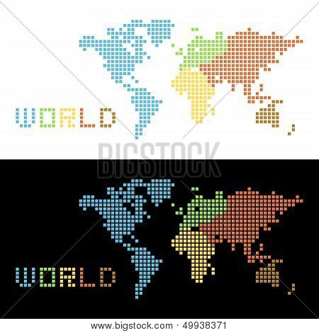 Five continents World Map