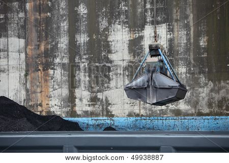Bucket Suspended From A Crane