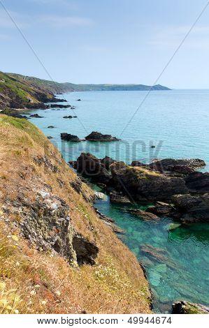 Cornwall coast Whitsand Bay to Rame Head England UK