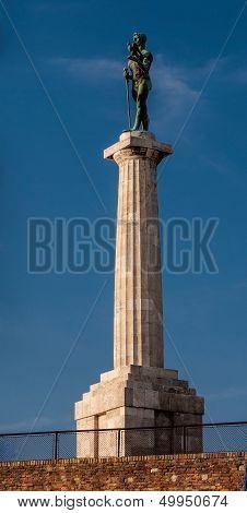 Victor Monument, Belgrade - Semi-profile