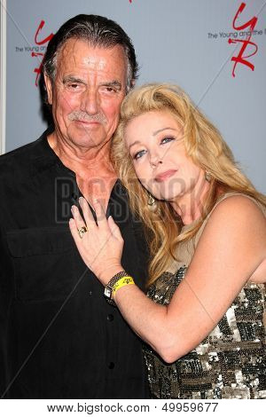 LOS ANGELES - AUG 24:  Eric Braeden, Melody Thomas Scott at the Young & Restless Fan Club Dinner at the Universal Sheraton Hotel on August 24, 2013 in Los Angeles, CA