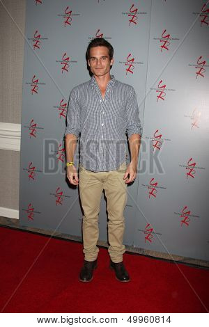 LOS ANGELES - AUG 24:  Greg Rikaart at the Young & Restless Fan Club Dinner at the Universal Sheraton Hotel on August 24, 2013 in Los Angeles, CA