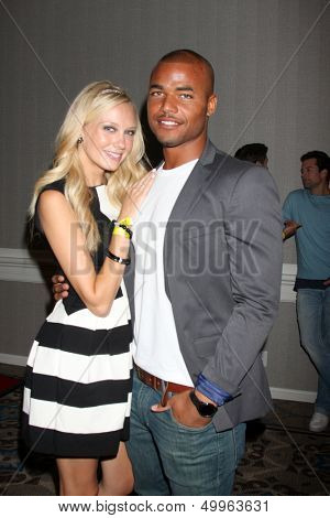 LOS ANGELES - AUG 24:  Melissa Ordway, Redaric Williams at the Young & Restless Fan Club Dinner at the Universal Sheraton Hotel on August 24, 2013 in Los Angeles, CA