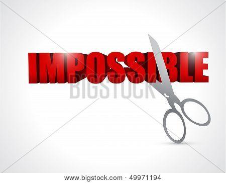 Cutting The Word Impossible. Illustration Design