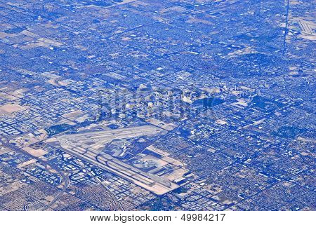 Aerial View Of Urban Sprawl
