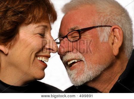 Married Couple Laughing