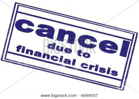 Financial Crisis Blue Stamp